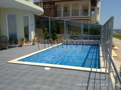 Luxury first line villa in Balchik with magnificent sea view pool 2